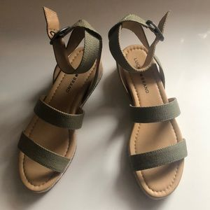 Lucky Brand Sandals, olive green